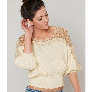 NWT Free People Love Lace Sweater